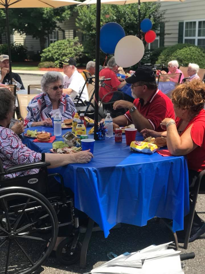 Brasstown Manor Senior Living - 4th of July Cookout 2018